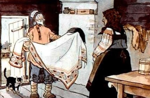 Скатерть, баранчик и сума