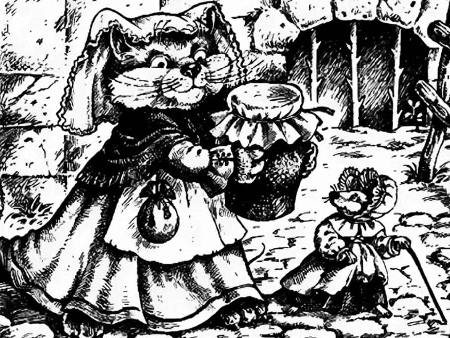 Слушать сказку Кошка и мышка вдвоем - Братья Гримм