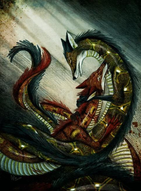 Лиса и змея