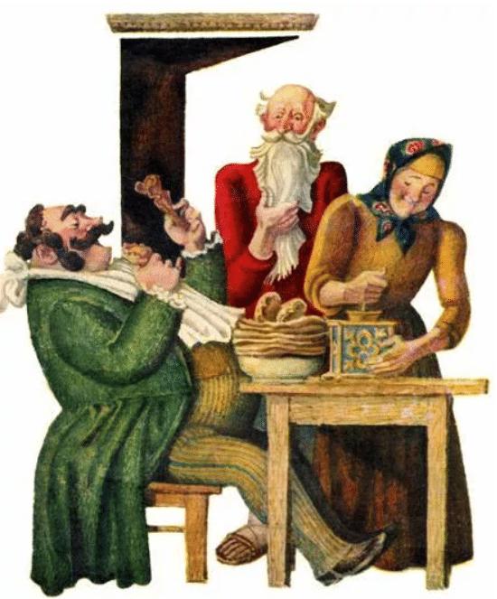 Петух и жерновцы