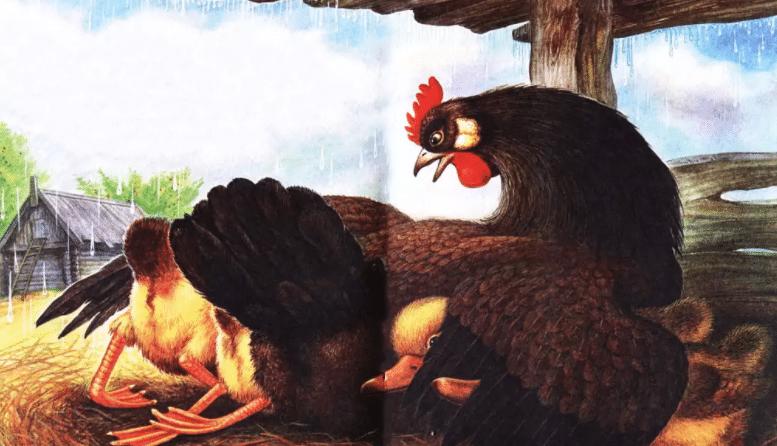 Курица на столбах